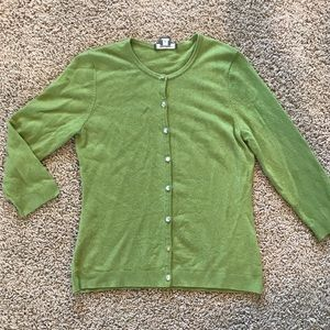 Ann Taylor 100% Cashmere Cardigan Soft Sweater